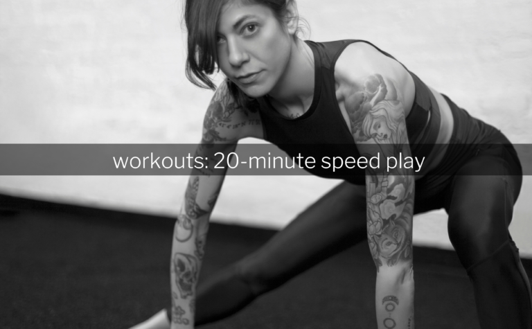 ProMix Nutrition Workouts 20 Minute Speed Play Running Blog