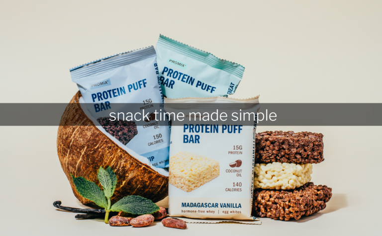 ProMix Nutrition Grass-fed whey protein puff bars vanilla chocolate chip mint chocolate chip